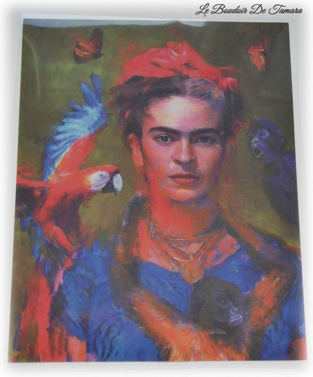 Transfert d'image au fer à repasser Frida Kahlo