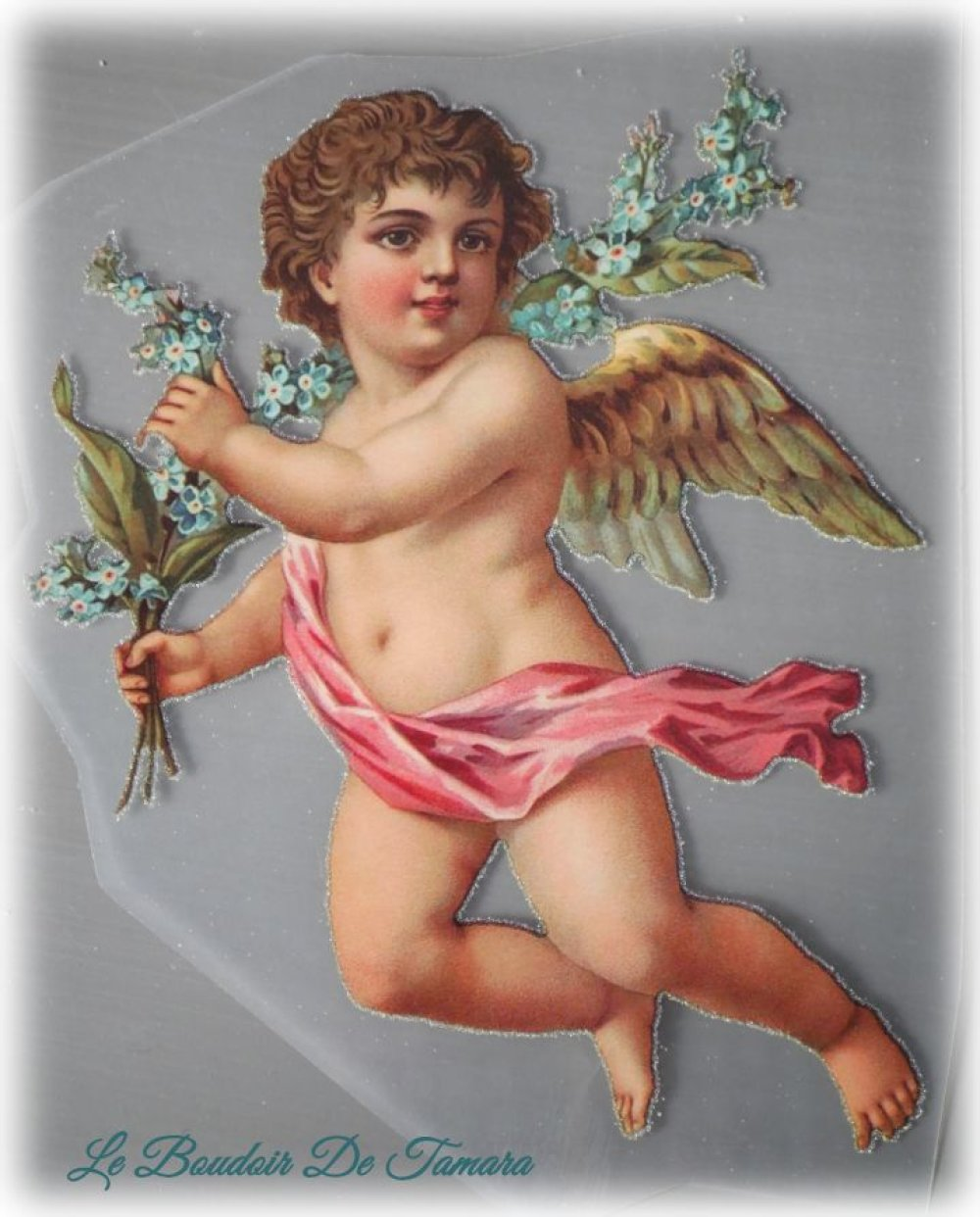 Transfert textile à chaud image anges romantique