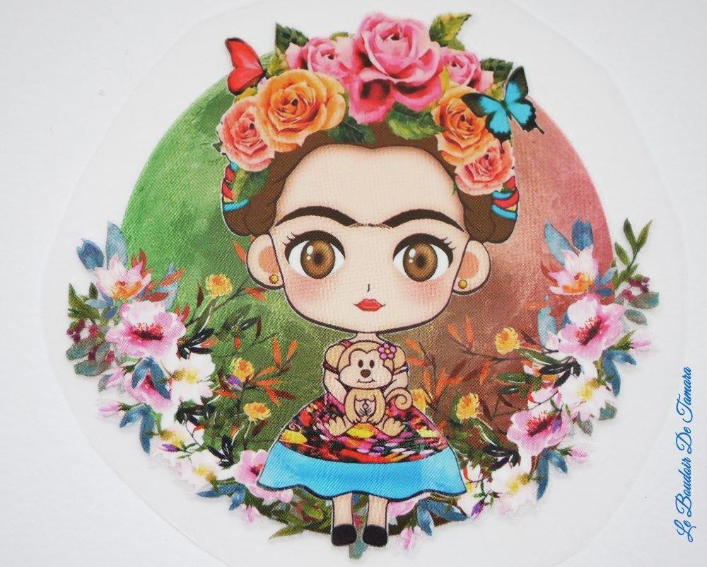 Petit transfert textile à chaud image Frida Khalo