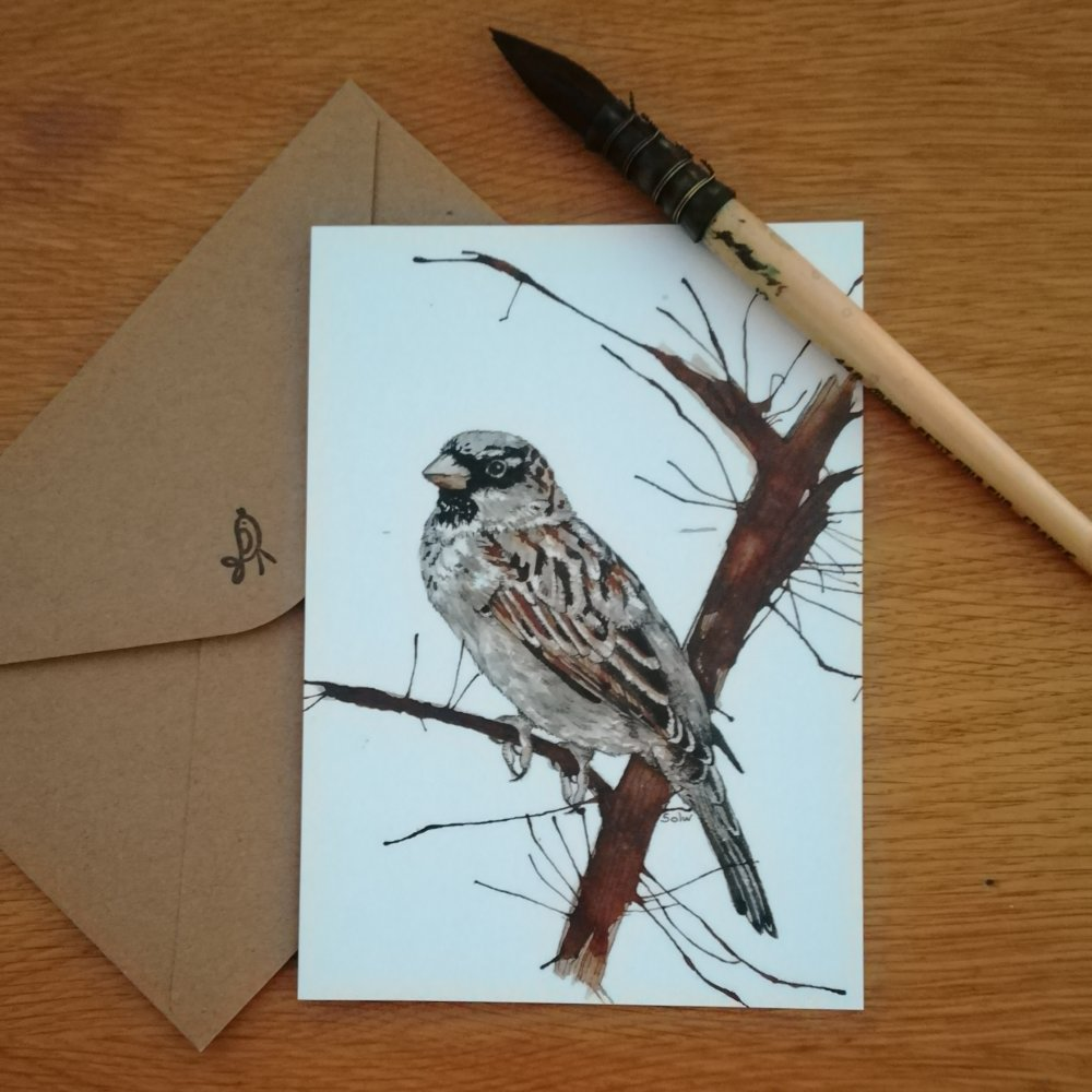 "Carte postale ""Moineau"""
