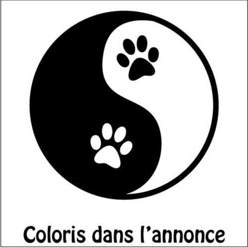 Stickers Chien Stickers Chat Yin Et Yang Pattes De Chat