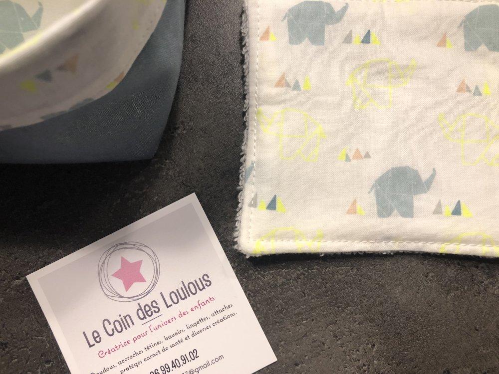 Lingettes lavables + paniére