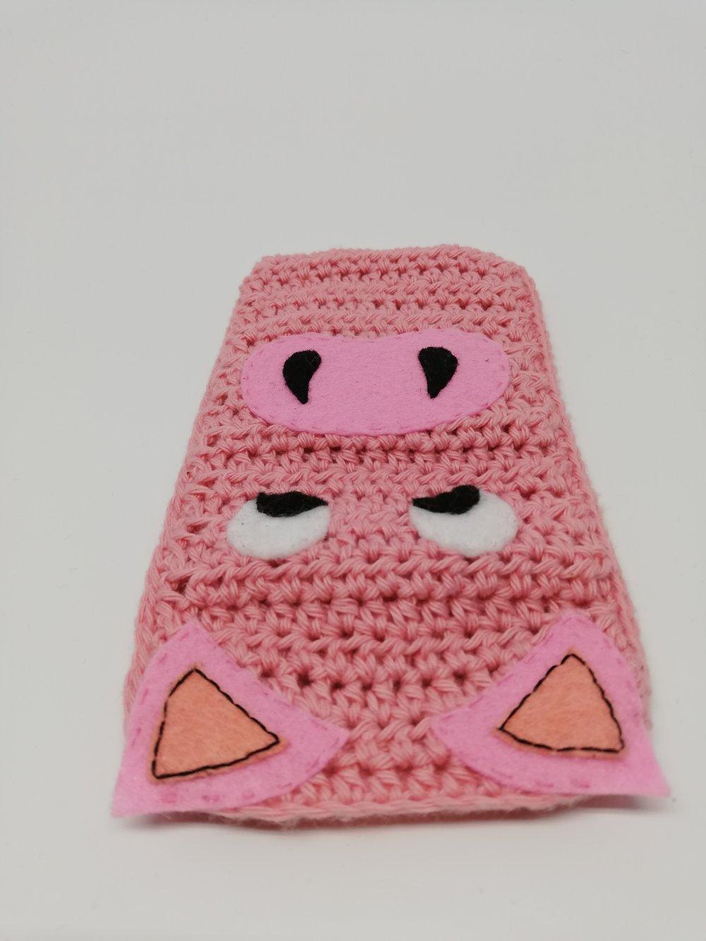 Anim'housse pour téléphone portable cochon