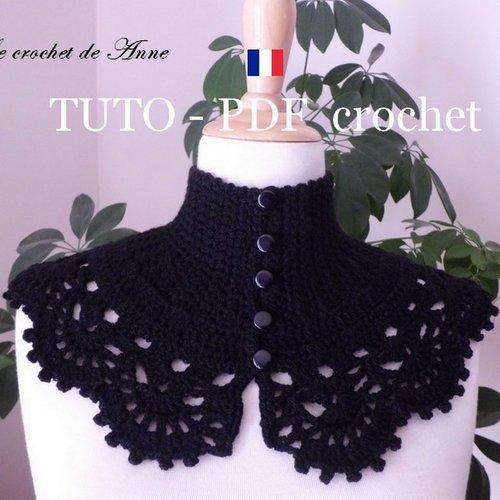 Pdf Crochet Tour De Cou De Style Victorien Orné Dune Belle Bordure Dentelle Facile à Réaliser