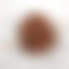 Barrette à cheveux en cuir martelé motif croisillons ba086