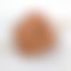 Barrette à cheveux en cuir motif patte de loup ba080