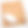 Tapis de souris en cuir tannage végétal motif aigle (orientation portrait)