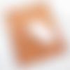 Tapis de souris en cuir tannage végétal motif petit chat