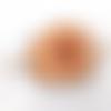 Barrette à cheveux junior en cuir tannage végétal motif coeur ba200
