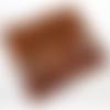 Etui rouleau en cuir marron avec son lacet marron