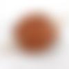 Barrette à cheveux junior en cuir tannage vegetal motif gouttelettes ba208