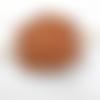Barrette à cheveux junior en cuir tannage vegetal motif granulé ba205
