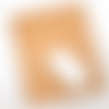 Tapis de souris en cuir tannage végétal motif clef de sol (orientation portrait)