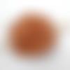 Barrette à cheveux en cuir tannage vegetal noeud celtique ba096
