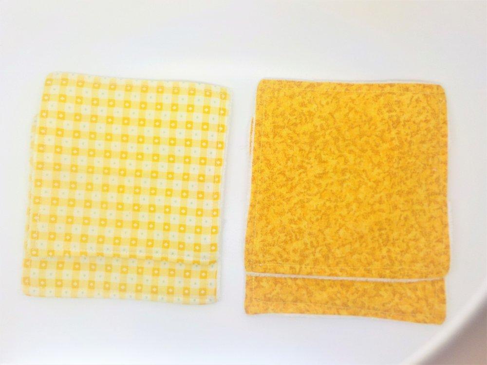 VENDU Lingettes lavables, à l'unité, démaquillantes, tencel d'eucalyptus, coton,