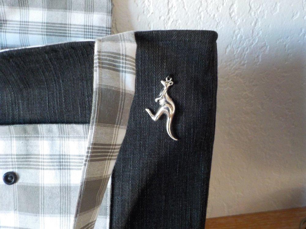 Sac, Tote bag, Jean, coton, kangourou, fait main, modèle unique