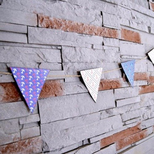 Guirlande fanions à imprimer bleu blanc fanions triangle ...