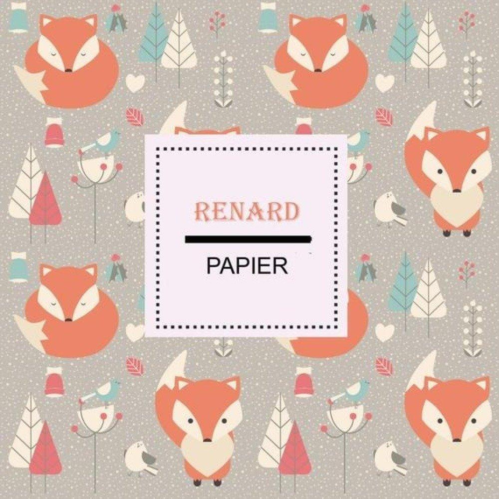 Papier Numerique A Telecharger A Imprimer Animaux Illustration Renard Orange Sapin Affiche Murale Origami Chambre Enfant Un Grand Marche