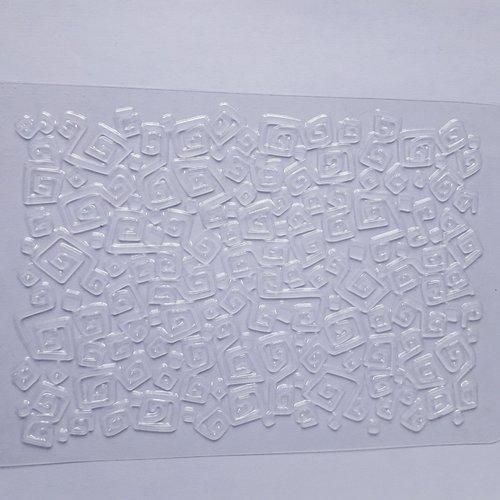 """Plaque de textures """"impression spirales carrées"""""""