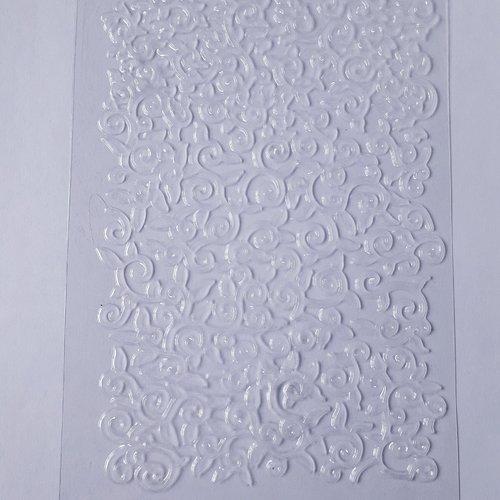 """Plaque de textures """"impression branche/feuille"""""""
