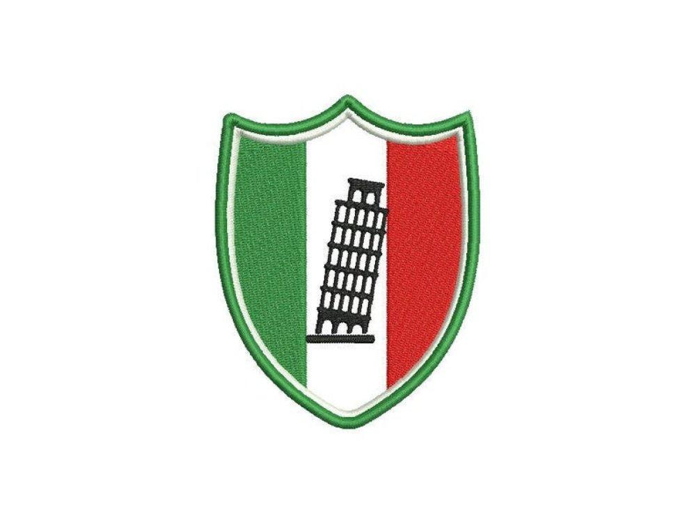 Ecusson Italie, Personnalisable, Thermocollant