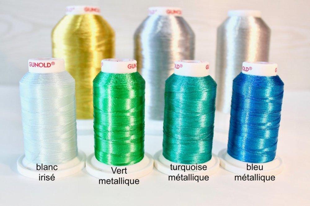 Chiffres Brodés, couleur brillante/métalisée au choix, Personnalisables, Thermocollant