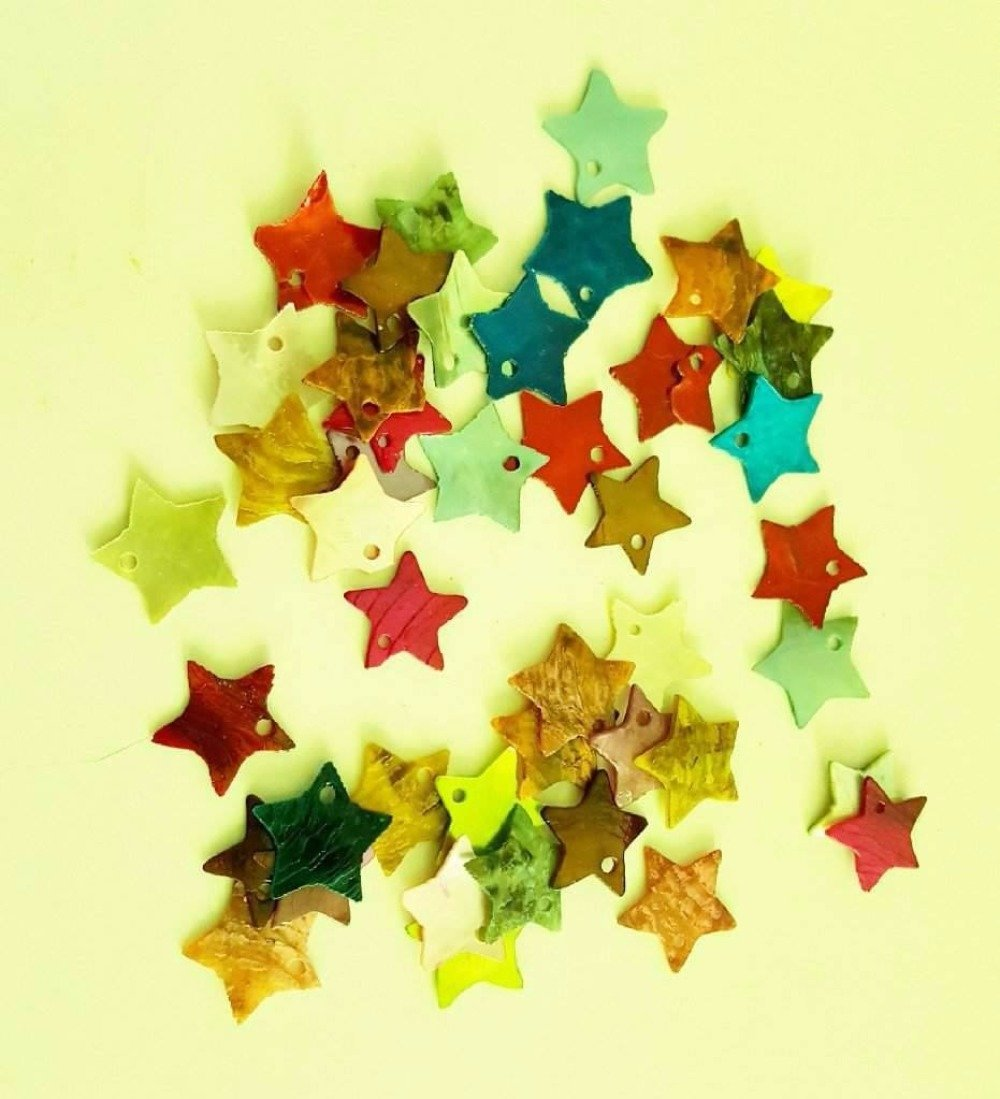Lot de Sequins nacrés multicolore forme étoile
