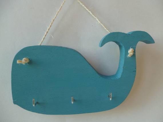 "Collection ""Bord de mer"" porte torchons ""baleine"""