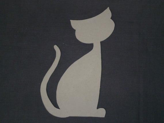 Accessoire à décorer - chat assis