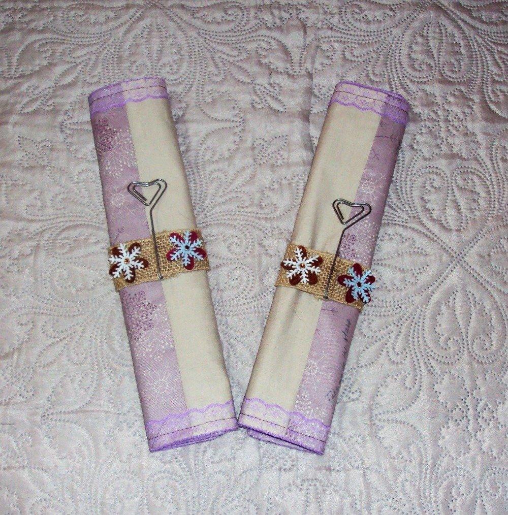 Set de table réversible et son marque place, pour un décor original de votre table de fête, noël, mariage, baptême, vendu par lot de 2