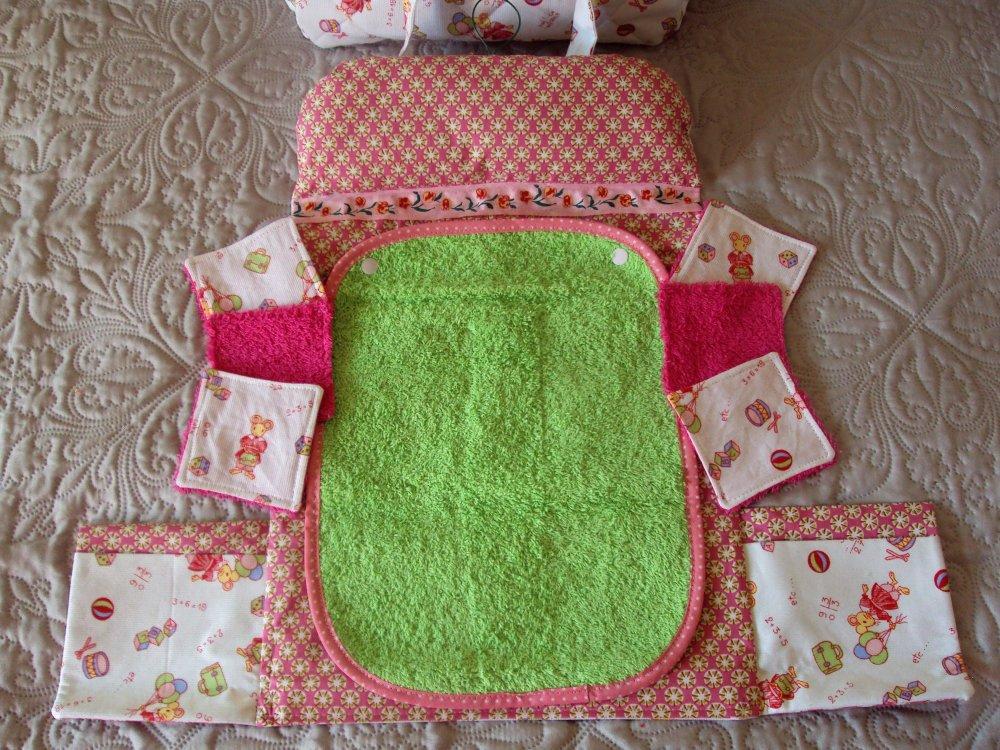 Sac à langer et accessoires, jouet ensemble puériculture pour poupon, poupée