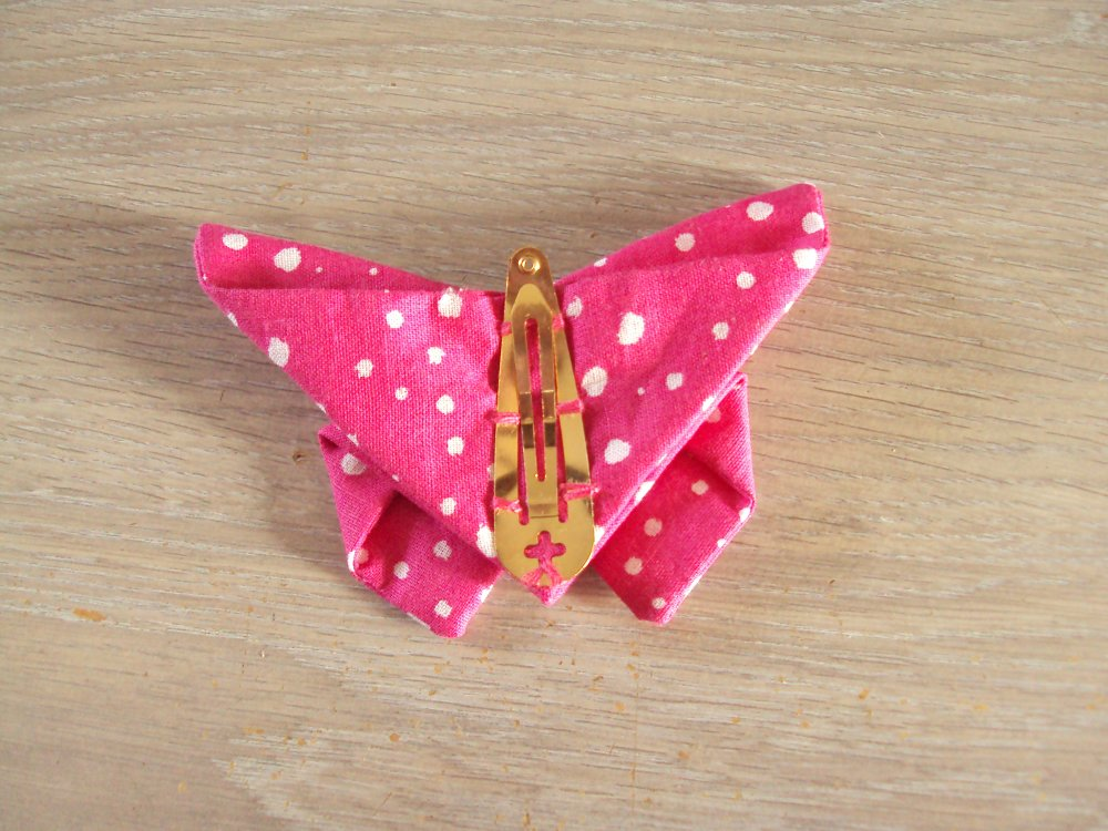 Barrettes papillon en tissu origami, lot de 2