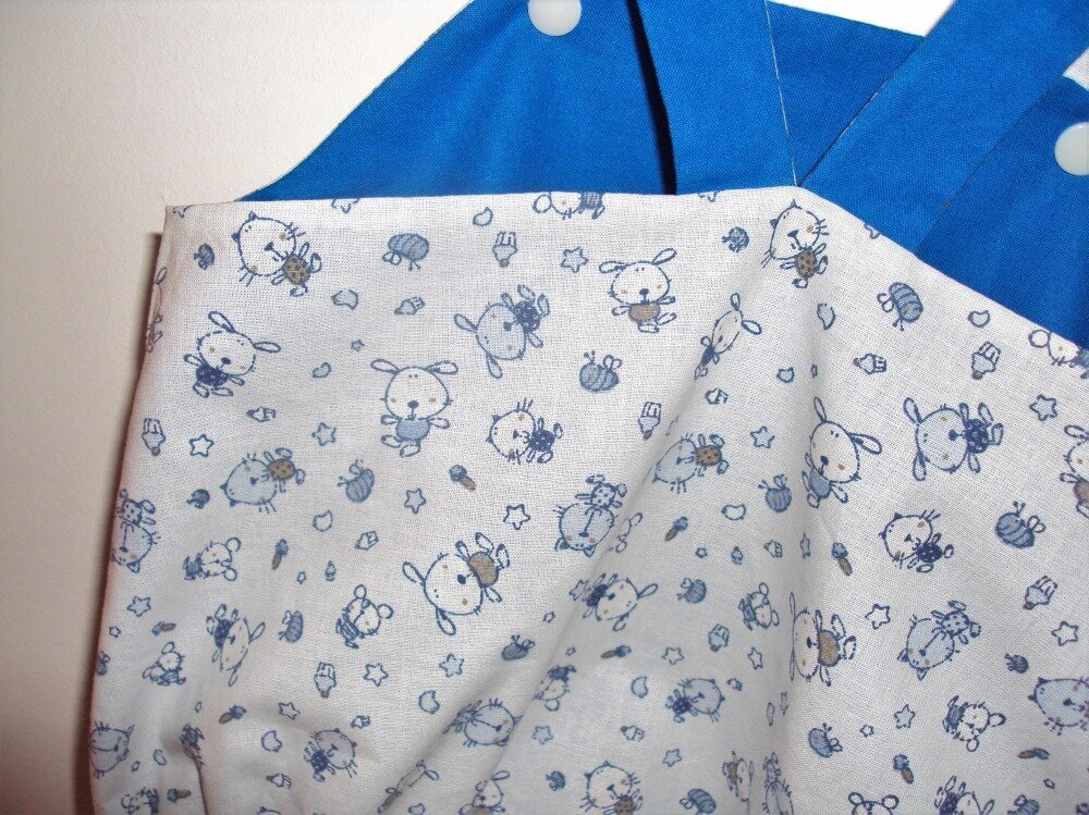 Barboteuse salopette réversible, la tenue estivale idéale pour bébé