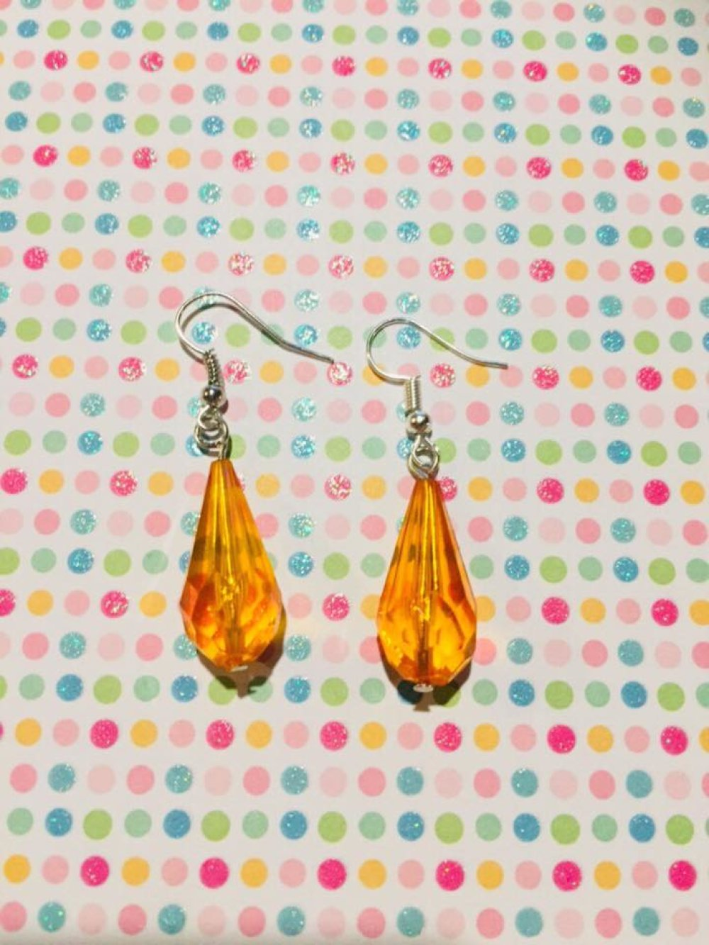 Boucles d'oreilles goutte orange