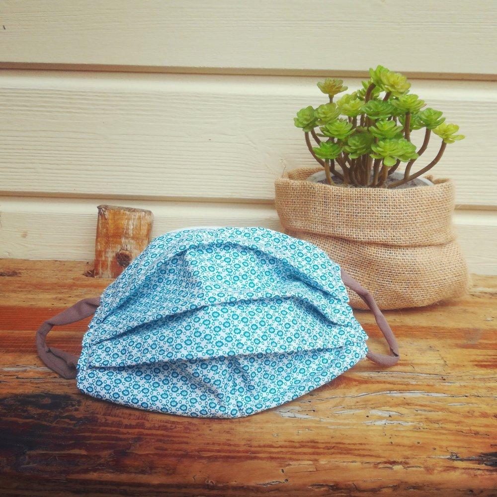 1 Masque protection Tissu lavable coton qualité adulte ou enfant