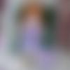 """""""violette, poupée ooak, issue d'une poupée """"les chéries"""" de corolle"""
