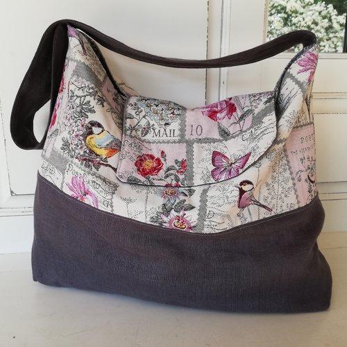 "Sac pour tapis ""champ de fleurs"" ou sac de plage"