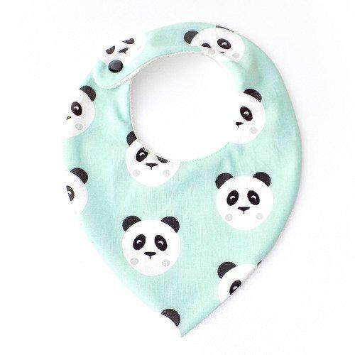 Bavoir bandana 0/18 mois mois  ❀ mint panda ❀