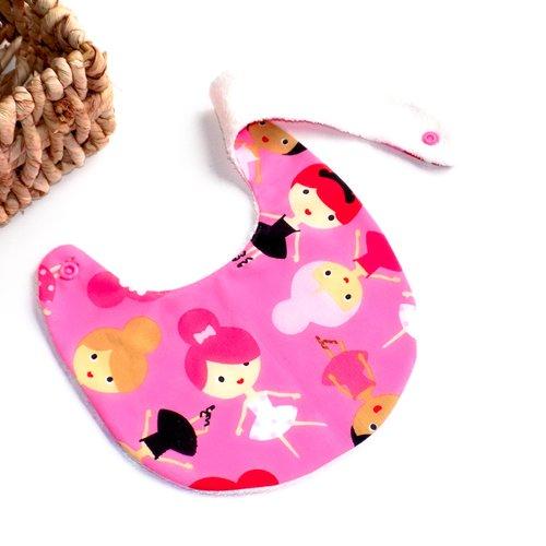 ♡ girls ♡ bavoir 0/6 mois en éponge naturelle de bambou oeko tex