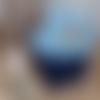 Lingettes lavable esprit wax bleu +panier