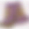 Col laine crochet violet/ocre/olive accessoire femme bohème romantique