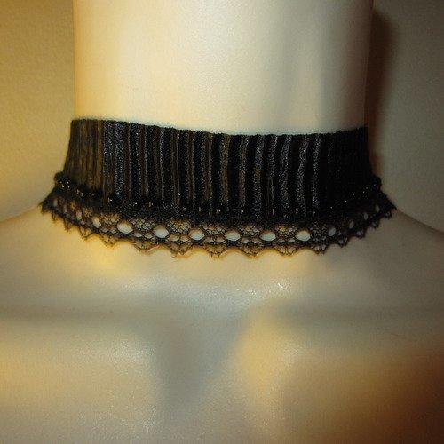 comment faire un collier ras de cou noir