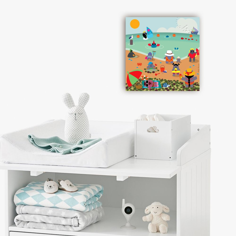 Tableau chambre d'enfant - La Plage de Mers-Les-Bains -