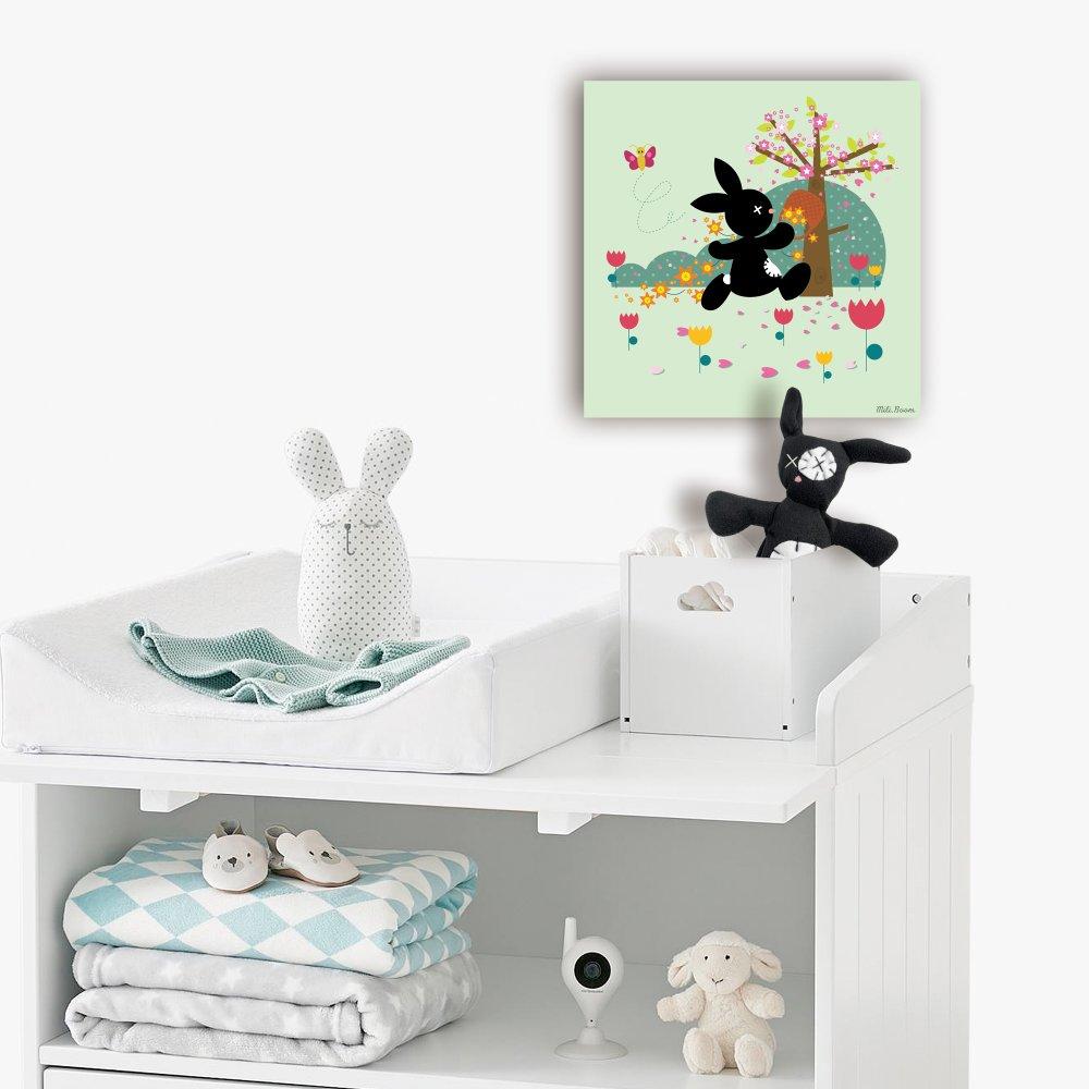 Petit Tableau personnalisé pour chambre d'enfant et son doudou associÉ