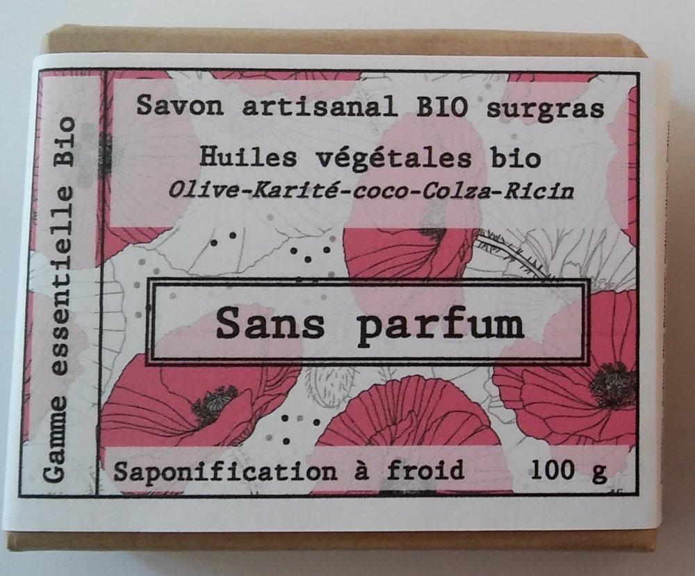 savon 100 g bio sans parfum
