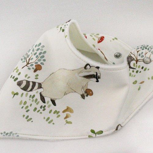 Bavoir bandana - raton laveur