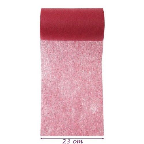 Centre de table intissé rouge foncé, largeur 23 cm x 4 m de longueur