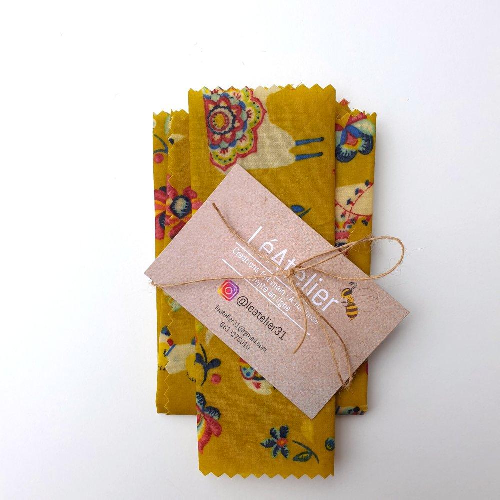 Bee Wrap rectangulaire (lot de 2)