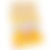 Lot de 4 coupons de tissu 20 cm x 25 cm coton canard graphique géométrique jaune