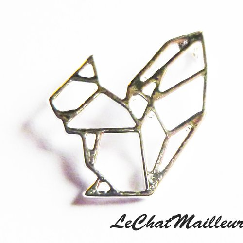 Breloque charm origami écureuil 18 mm japonisant pendentif connecteur charme graphique